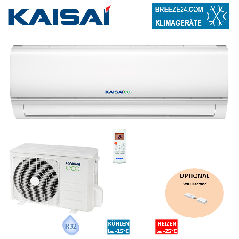 Kaisai Set Wandgerät Eco 2,6 kW KEX-09KTAI + KEX-09KTAO R32 Klimaanlage