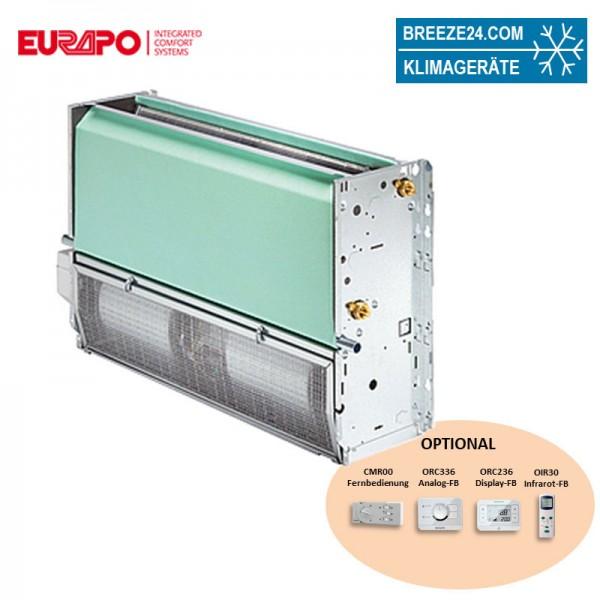 Eurapo Truhengerät 7,25 kW Kaltwasser CV/AF226 zum Kühlen und Heizen ohne Verkleidung