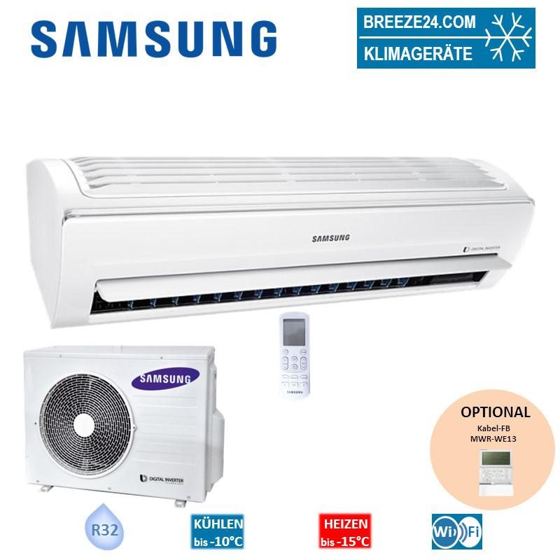 Set AR09RXPXBWKN Wandgerät WindFree + AR09RXPXBWKX Samsung Klimaanlage R32