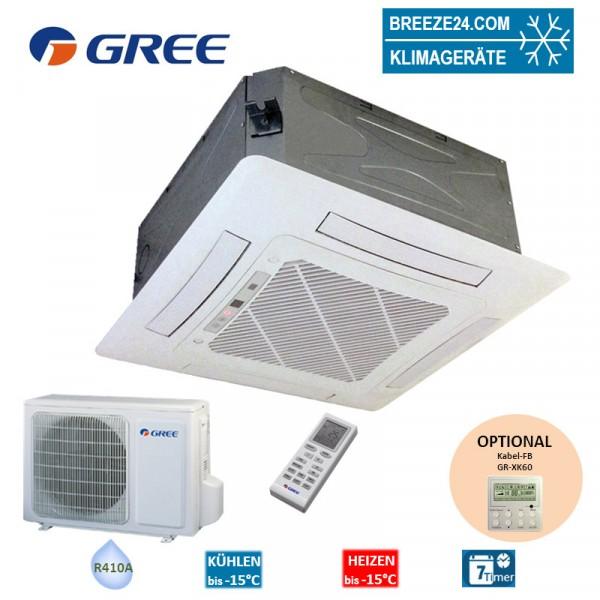 Set GKH-18-K3-4 4-Wege-Deckenkassette + GUHD-18-NK-4