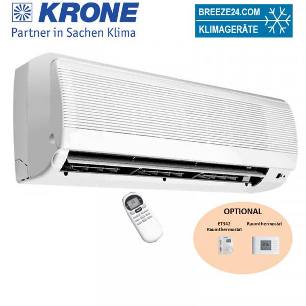 Krone WLT 21 Kaltwasser-Wandgerät 2,1 kW (mechanisch) mit 2-wege-Ventil für externe Regelung