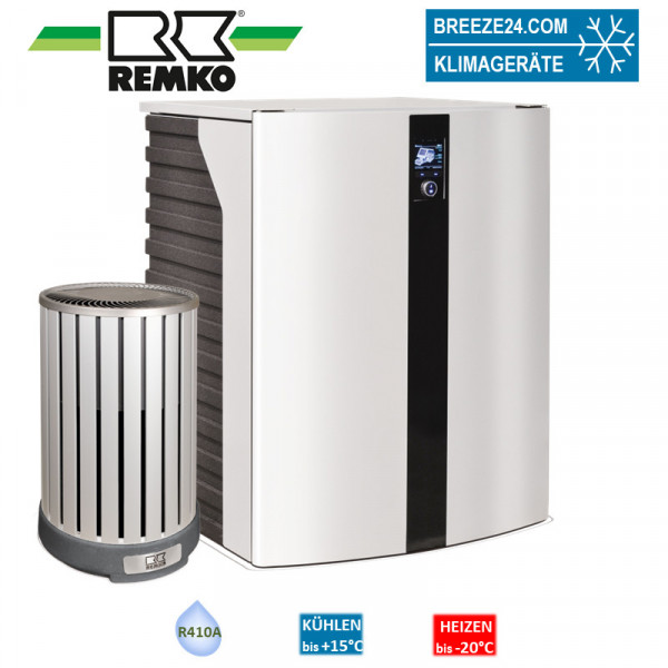 Remko Set HTS 130 + Wärmepumpe (Alu/Holzoptik) 7,0 kW
