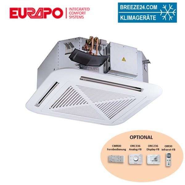 Eurapo Deckenkassette 10,15 kW - ESTUCS922-C 4-seitig ausblasend zum Kühlen und Heizen