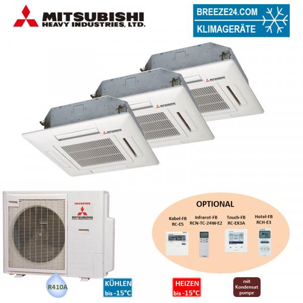 Mitsubishi Heavy Set 3 x 4-Wege-Deckenkassette 2,5/5,0/6,0 kW - FDTC 25 VF + FDTC 50 VF + FDTC 60 VF
