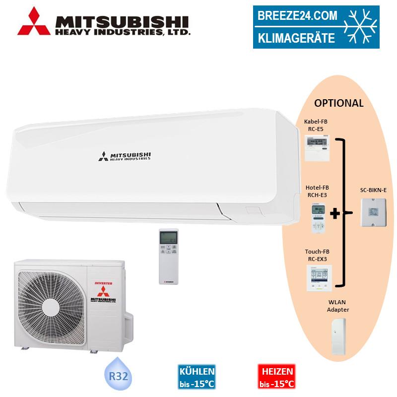 Mitsubishi Heavy Set Wandgerät 2,7 kW - SRK 20 ZS-W + Außengerät SRC 20 ZS-W R32 Klimaanlage