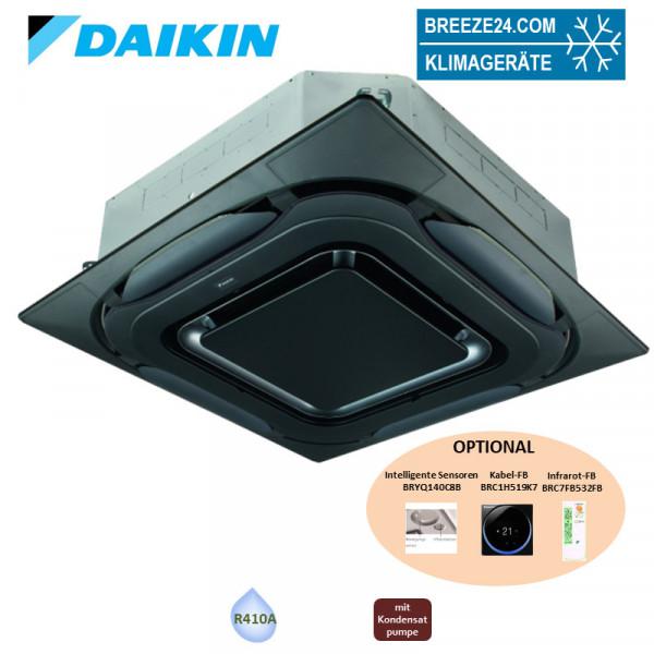 Daikin 4-Wege-Deckenkassette mit Blende design schwarz FXFQ80B + BYCQ140EPB VRV - 9,0 kW