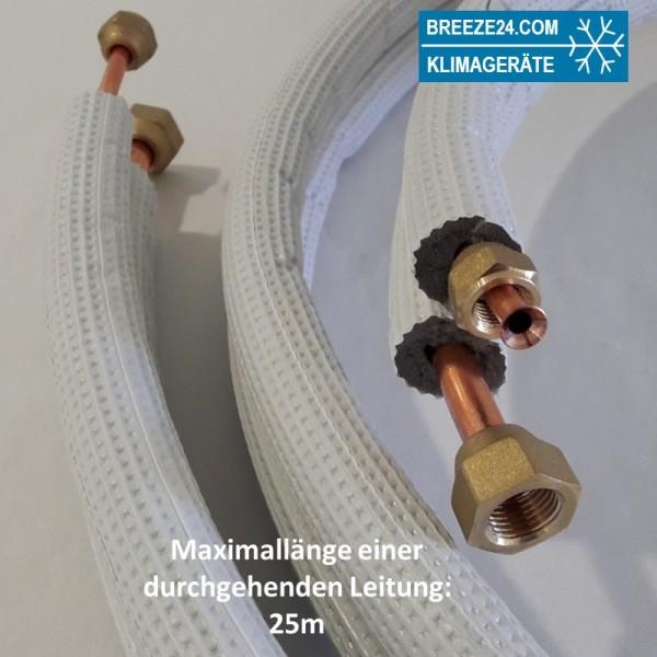 """1/4"""" / 3/8"""" (6/10mm) Kältemittelleitung isoliert und gebördelt"""