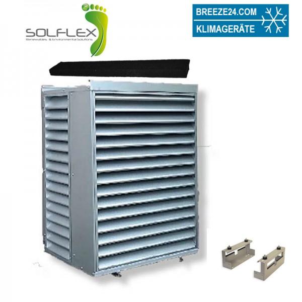 HCS200NPSA Solflex Schallschutzgehäuse mit Fußkonstruktion und Schalldämmungsstreifen