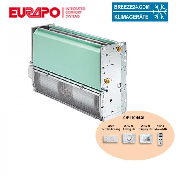 Eurapo Truhengerät 9,46 kW Kaltwasser ESTCV/AF528 zum Kühlen und Heizen ohne Verkleidung