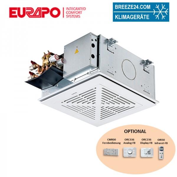 Eurapo Deckenkassette 5,0 kW - UCS623 4-seitig ausblasend zum Kühlen und Heizen