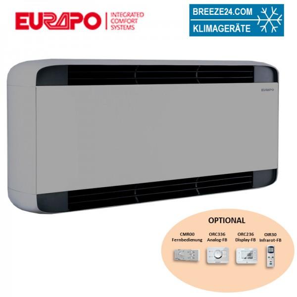 Eurapo Wand - Truhengerät Sphera 1,94 kW Kaltwasser ESWLUX20 zum Kühlen und Heizen