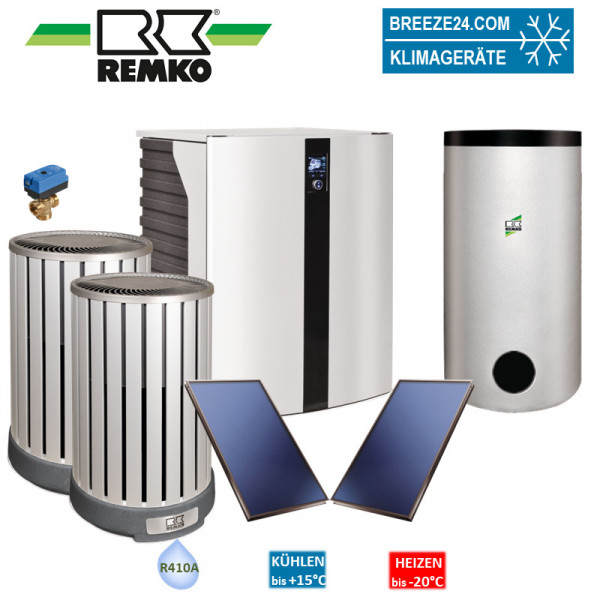 Remko Set Wärmepumpe HTS 200 Paket Stuttgart Solar (Alu/Holzoptik)