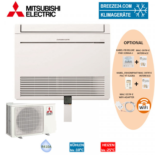 Set MFZ-KJ25VE Kompakt Truhengerät + MUFZ-25KJVEHZ Mitsubishi Electric Klimaanlage